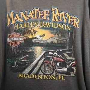 Harley-Davidson Men's Gray 3XL Gray T-Shirt